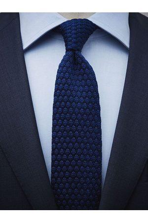 John Henric Blue Knitted Tie