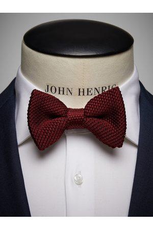 John Henric Burgundy Knitted Bow Tie