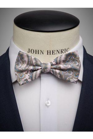John Henric Pink Bow Tie Paisley