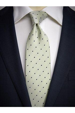 John Henric Light Green Dot Tie