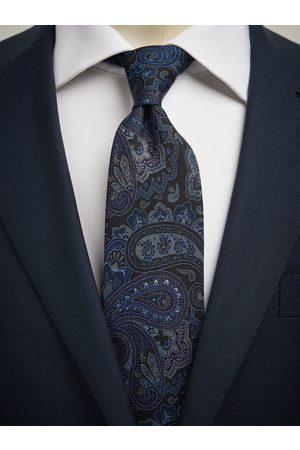 John Henric Dark Blue Tie Big Paisley