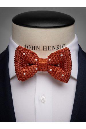John Henric Orange Knitted Bow Tie