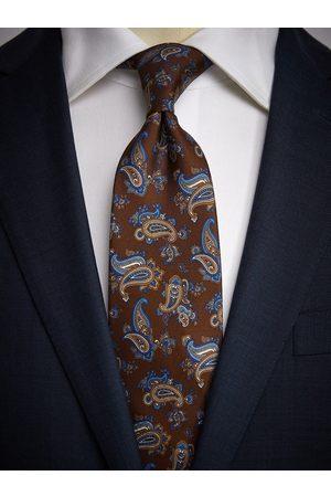 John Henric Brown Tie Paisley