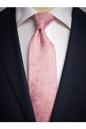 John Henric Pink Tie Paisley