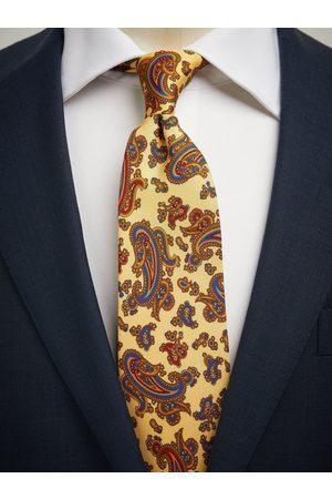John Henric Yellow Tie Paisley