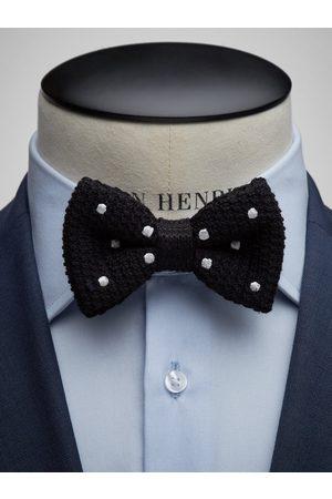 John Henric Man Flugor - Black Bow Tie Wool Dot