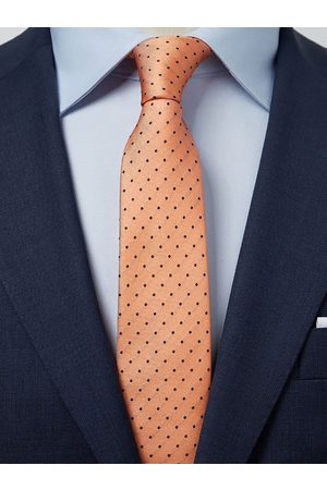 John Henric Orange Tie Dot