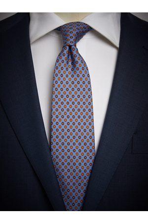 John Henric Man Slipsar - Light Blue Tie Motif