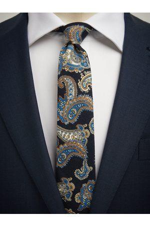 John Henric Man Slipsar - Blue Tie Wool Paisley