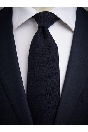 John Henric Man Slipsar - Dark Blue Cashmere Tie