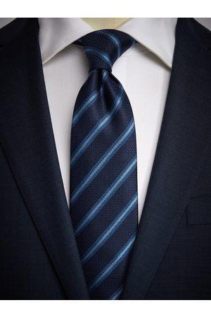 John Henric Man Slipsar - Blue & Light Blue Tie Striped