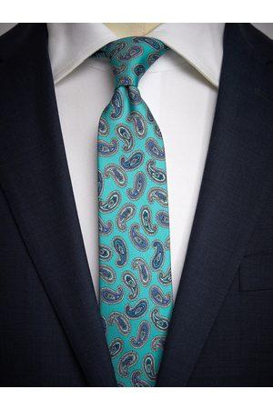 John Henric Man Slipsar - Turquoise Tie Paisley