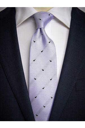 John Henric Purple Tie Small Paisley