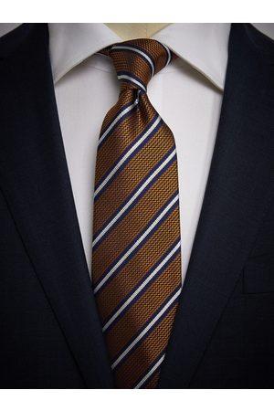 John Henric Man Slipsar - Orange Tie Striped