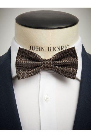 John Henric Man Flugor - Brown Bow Tie Small Paisley