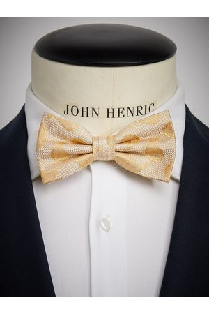 John Henric Yellow Bow Tie Paisley