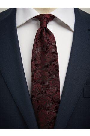 John Henric Man Slipsar - Burgundy Grenadine Tie