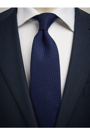 John Henric Man Slipsar - Blue Tie Wool Structure