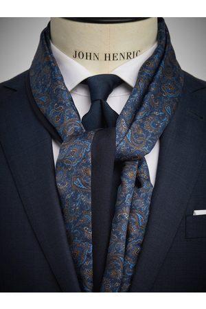 John Henric Man Sjalar - Blue Wool & Silk Scarf