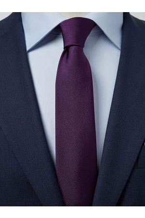 John Henric Man Slipsar - Dark Purple Tie Plain