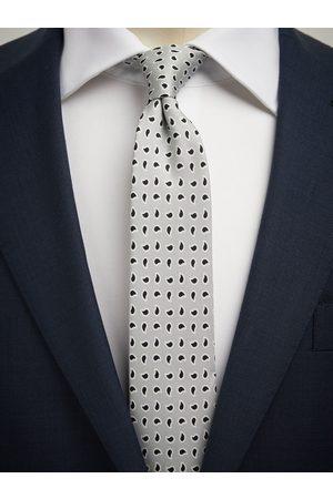 John Henric Man Slipsar - Grey Tie Small Paisley