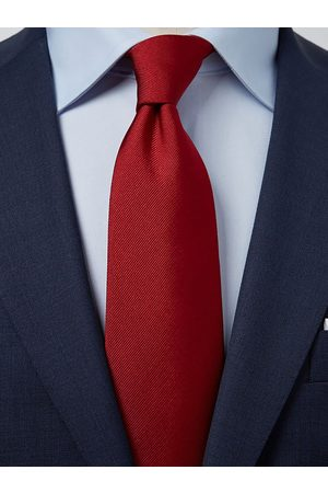 John Henric Man Slipsar - Dark Red Tie Plain