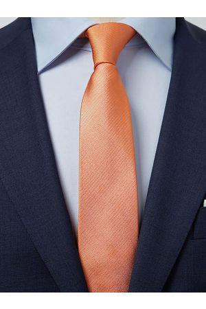 John Henric Orange Tie Plain