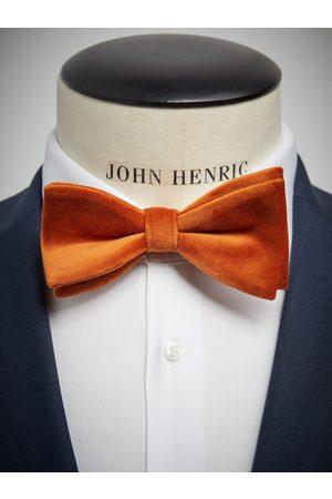 John Henric Orange Velvet Bow Tie