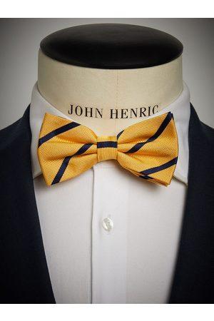 John Henric Yellow & Blue Striped Bow Tie