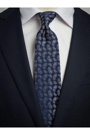 John Henric Man Slipsar - Blue Tie Small Paisley
