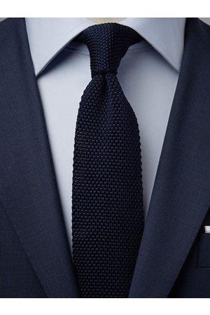 John Henric Dark Blue Knitted Tie