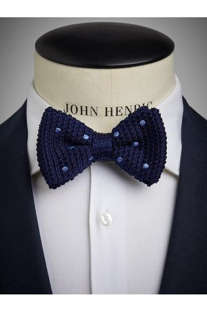 John Henric Blue Knitted Bow Tie
