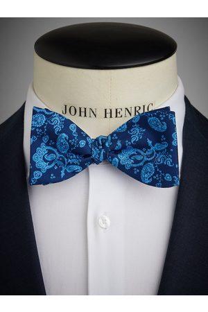 John Henric Blue Bow Tie Floral