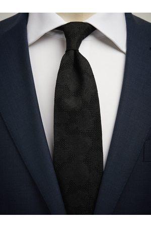 John Henric Black Grenadine Tie