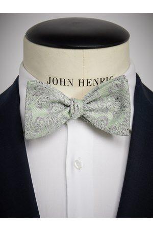 John Henric Man Flugor - Green Bow Tie Paisley