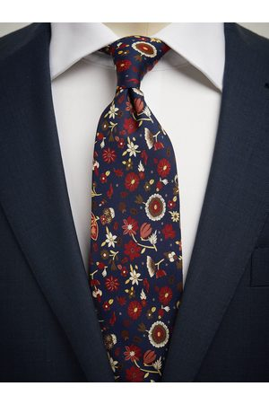 John Henric Blue Tie Floral