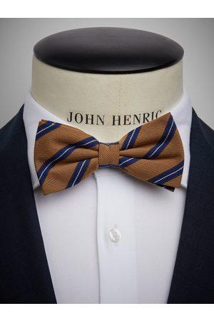 John Henric Man Flugor - Beige Bow Tie Wool Stripe