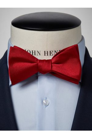 John Henric Red Bow Tie Plain