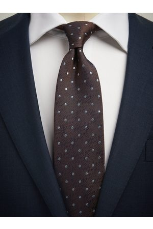 John Henric Brown Dot Tie