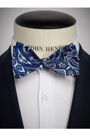John Henric Man Flugor - Blue Bow Tie Paisley