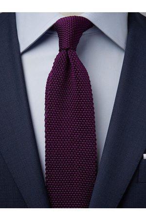 John Henric Purple Knitted Tie