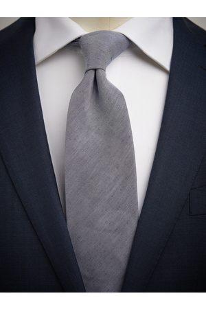 John Henric Man Slipsar - Blue Tie Linen
