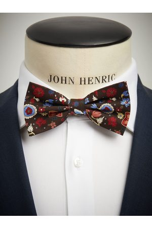 John Henric Brown Bow Tie Floral