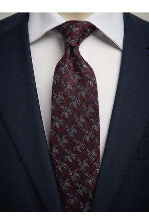 John Henric Burgundy Tie Floral