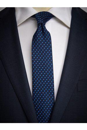 John Henric Blue Tie Micro Dot