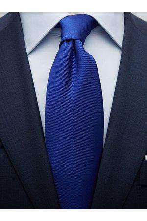 John Henric Cobolt Blue Tie Plain