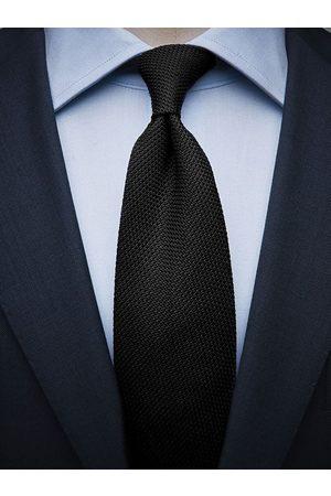 John Henric Man Slipsar - Black Grenadine Tie