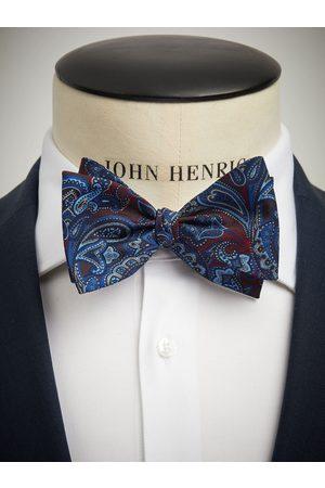 John Henric Blue Bow Tie Paisley