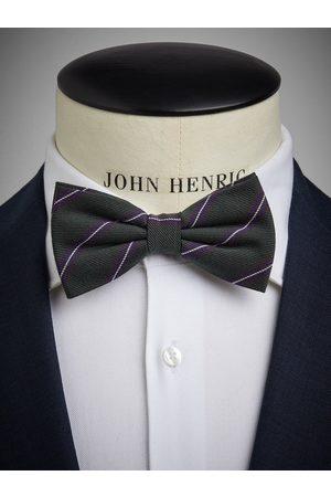 John Henric Green Bow Tie Wool Stripe