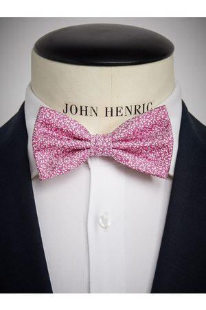 John Henric Pink Bow Tie Floral